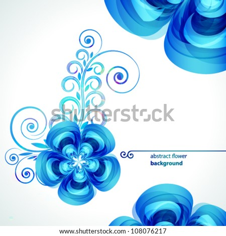 Abstract beautiful flower vector background cover template.
