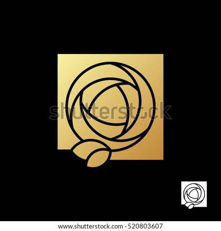 abstract beautiful gold rose in