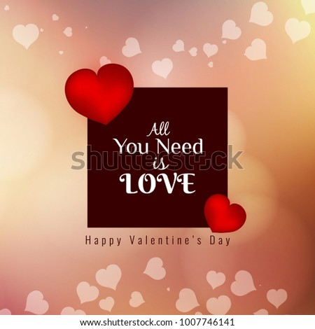 Abstract beautiful Happy Valentine's Day elegant background