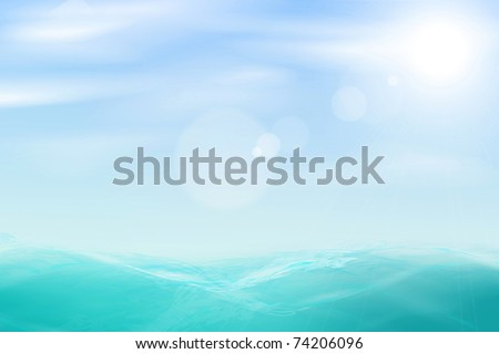 abstract beautiful sea and sky