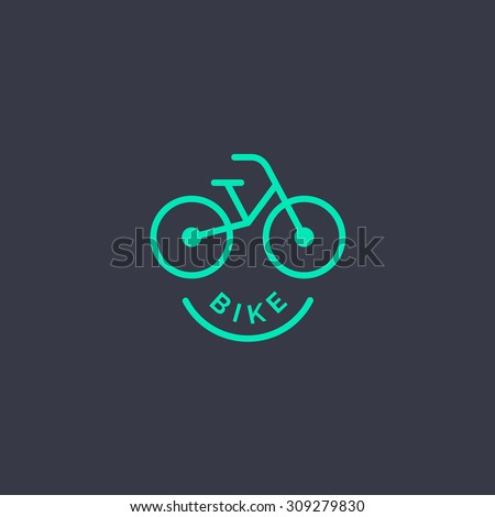 abstract bicycle logo template