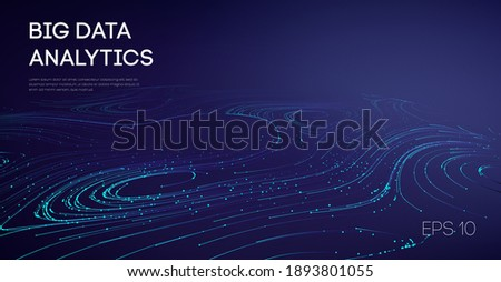 Abstract Big Data Flow Background. Software code agile industrial internet backdrop. Industry cyber complex big data sound visulization.