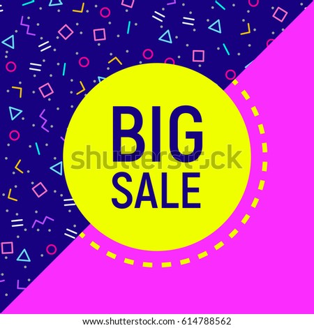 abstract big sale banner