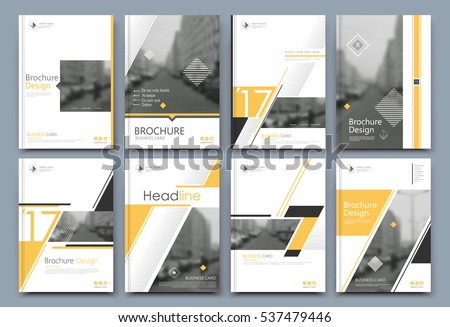 Red yellow background graphic design template 123freevectors for Fancy brochure templates