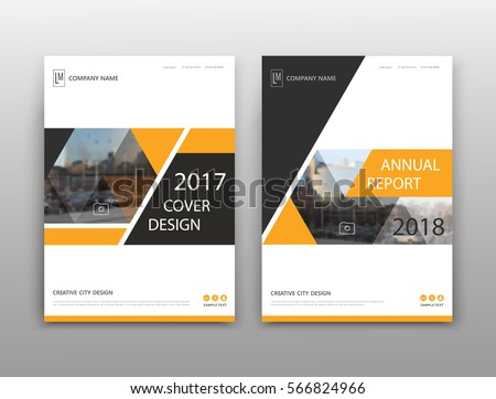 Abstract binder layout. White a4 brochure cover design. Fancy info text frame. Creative ad flyer font. Title sheet model set. Modern vector front page. Elegant city banner. Yellow triangle figure icon