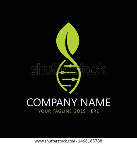 Abstract biotechnology water leaf dna drop logo design. green energy, medicine, science, technology, laboratory, electronics logotype vector icon. - Vector