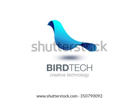 abstract bird logo design