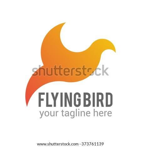 abstract bird logo template