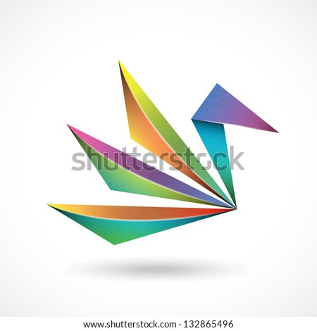Abstract bird sign - stock vector