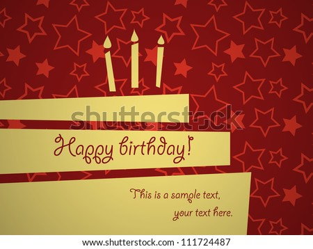 Abstract birthday greeting card template, EPS10 vector.