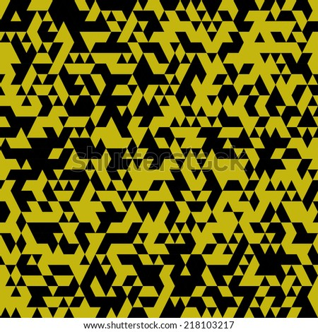 Abstract black and gold colored vector triangular geometric background