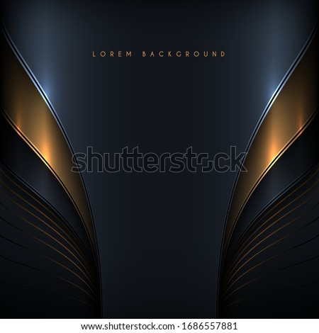 Abstract black and gold elegant background