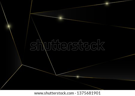 Abstract black and gold luxury background.Vector background can be used in cover design, book design, poster, cd cover, flyer, website backgrounds or advertising.