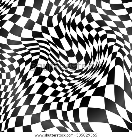 Abstract black and white curved grid vector background Сток-фото ©