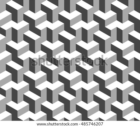 stock-vector-abstract-black-and-white-d-geometric-seamless-pattern-optical-illusion-d-shapes-vector-eps