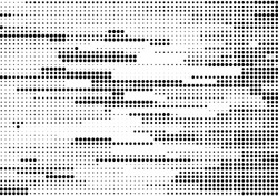 Abstract black and white halftone stream lines dots texture. Vector background for posters, comic book designs, banners.