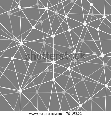 abstract black and white net