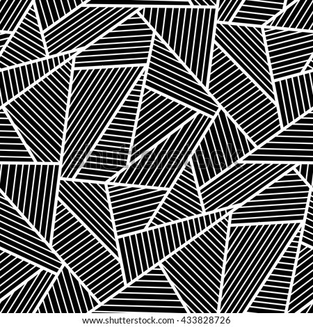 Black And White Vector Seamless Pattern Of Jagged Black Lines Enchanting Black And White Pattern