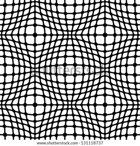 Abstract black and white seamless pattern, vector geometric background