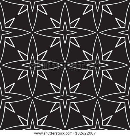Abstract black and white vector seamless pattern