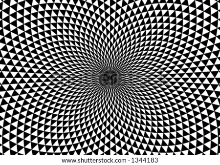 abstract black and white vortex