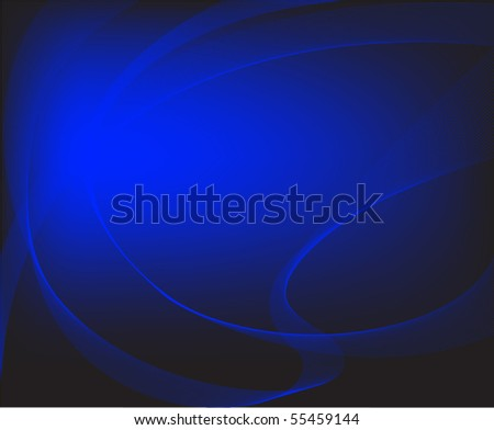abstract black background with luminous blue elements