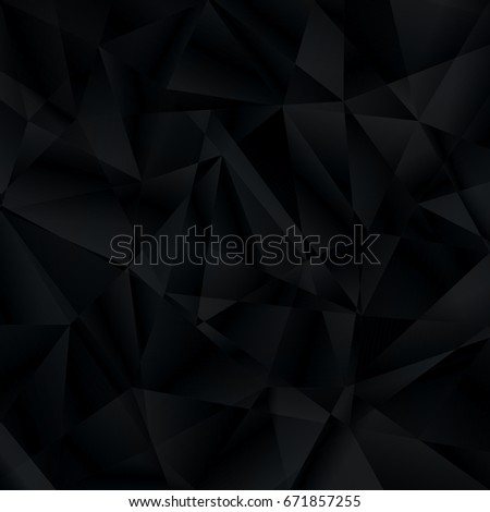 Abstract black background with triangle pattern