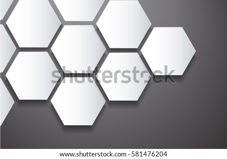 abstract black bee hive hexagon