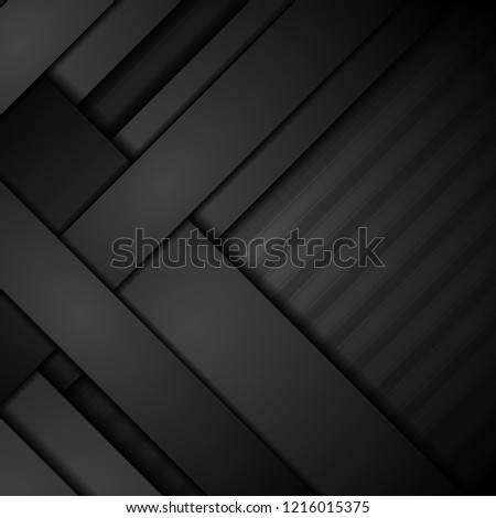 Abstract black concept stripes corporate background. Tech vector design