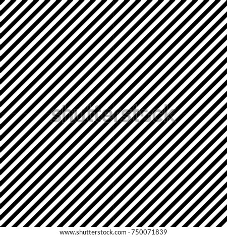 Abstract Black Diagonal Striped Background . Vector parallel slanting, oblique lines texture . Endless , seamless pattern