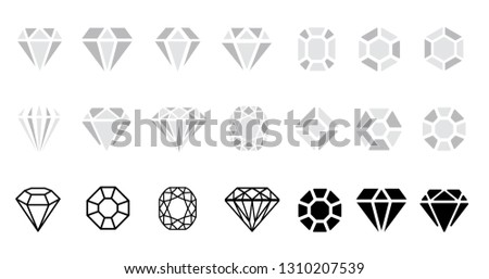 Abstract black diamond collection icons Vector eps icon logo design diamonds color Cristal Shine Effect background Diamond Shapes gemstone Star sparkling stars glittery Sparkle glowing, light glittery