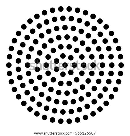 abstract black dot circle background
