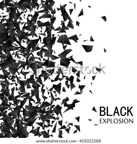 abstract black explosion on a