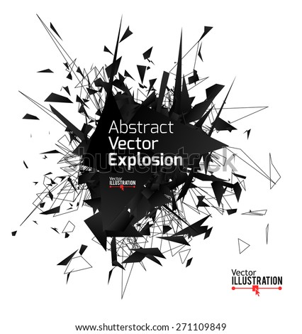 abstract black explosion