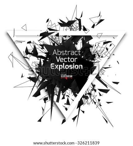 abstract black explosion with