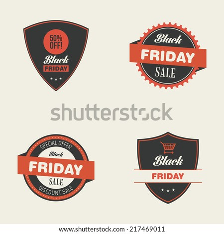 Abstract black friday objects on a white background