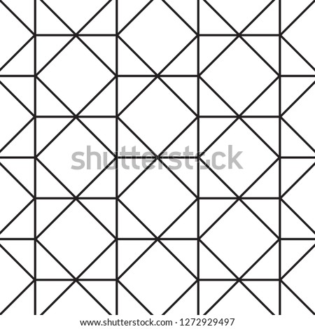 Abstract black geometric pattern on white background.