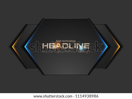 stock-vector-abstract-black-geometric-shapes-with-glowing-lights-vector-modern-design