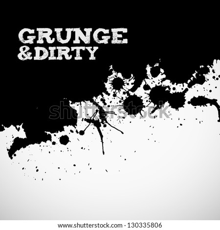 abstract black grunge ink