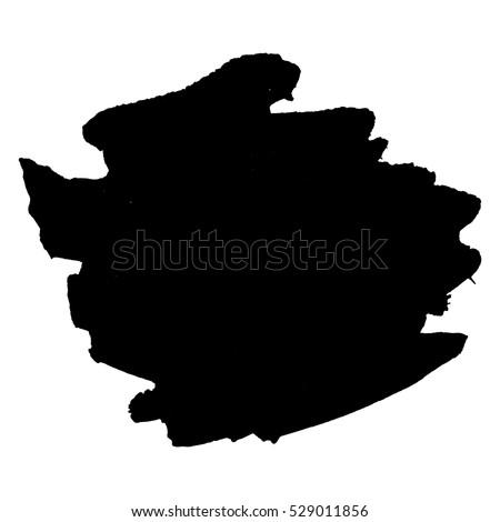 abstract black ink blot