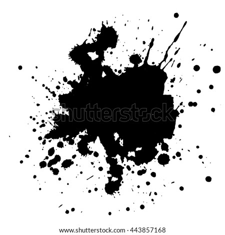 Abstract black ink spot background. Vector illustration. Grunge texture for cards and flyers design. A model for the creation of digital brushes Stock photo ©