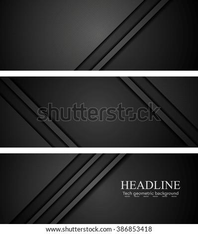 abstract black tech concept