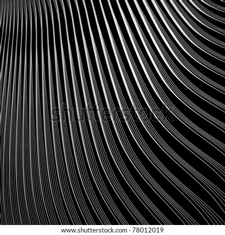 Abstract black textured background. Vector art.