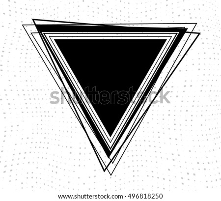 abstract black triangle