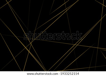 abstract black with gold lines
