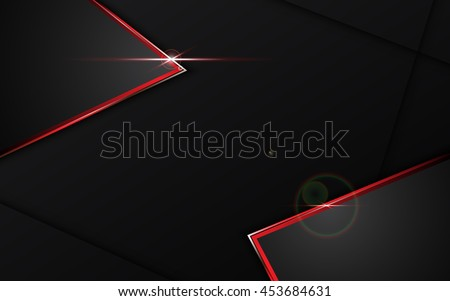 abstract black with red frame template layout design tech concept background