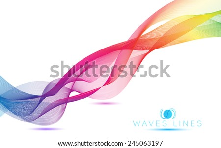 abstract blend colorful waves