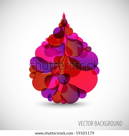 abstract blood droplet with