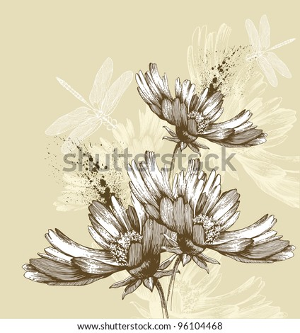 abstract blooming flowers