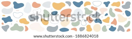Abstract blotch shape. Liquid shape elements. Set of modern graphic elements. Fluid dynamical colored forms banner. Gradient abstract liquid shapes. Vector illustration.